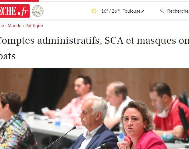 Albi, Compte administratif, SCA et masques